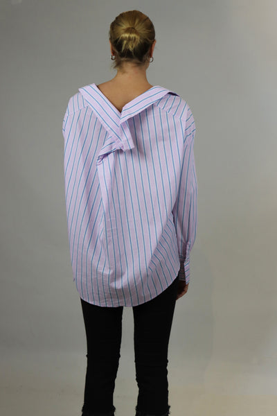 Lavender Striped Top