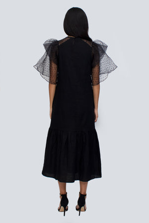 Aubrie Organza Sleeve Dress