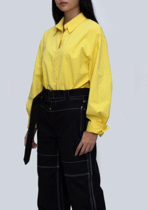 Yellow Buttoned Down Top