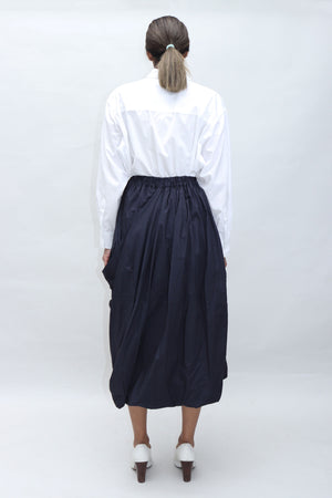 Navy Structured Skirt