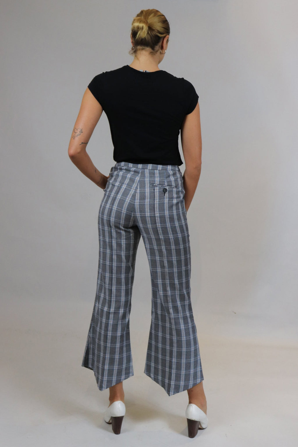 Slim Tailored Checked Trousers