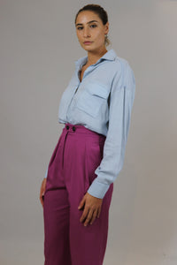 Light Blue Buttoned Down Top