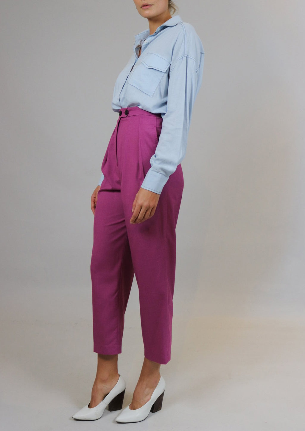 Magenta High Waisted Pants