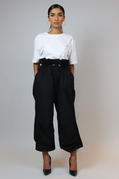 WANTS Black Draw Strings High Waisted Pants