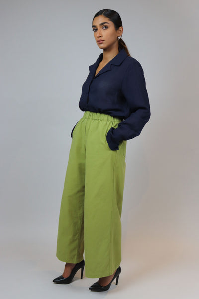 Green High Waisted Pants