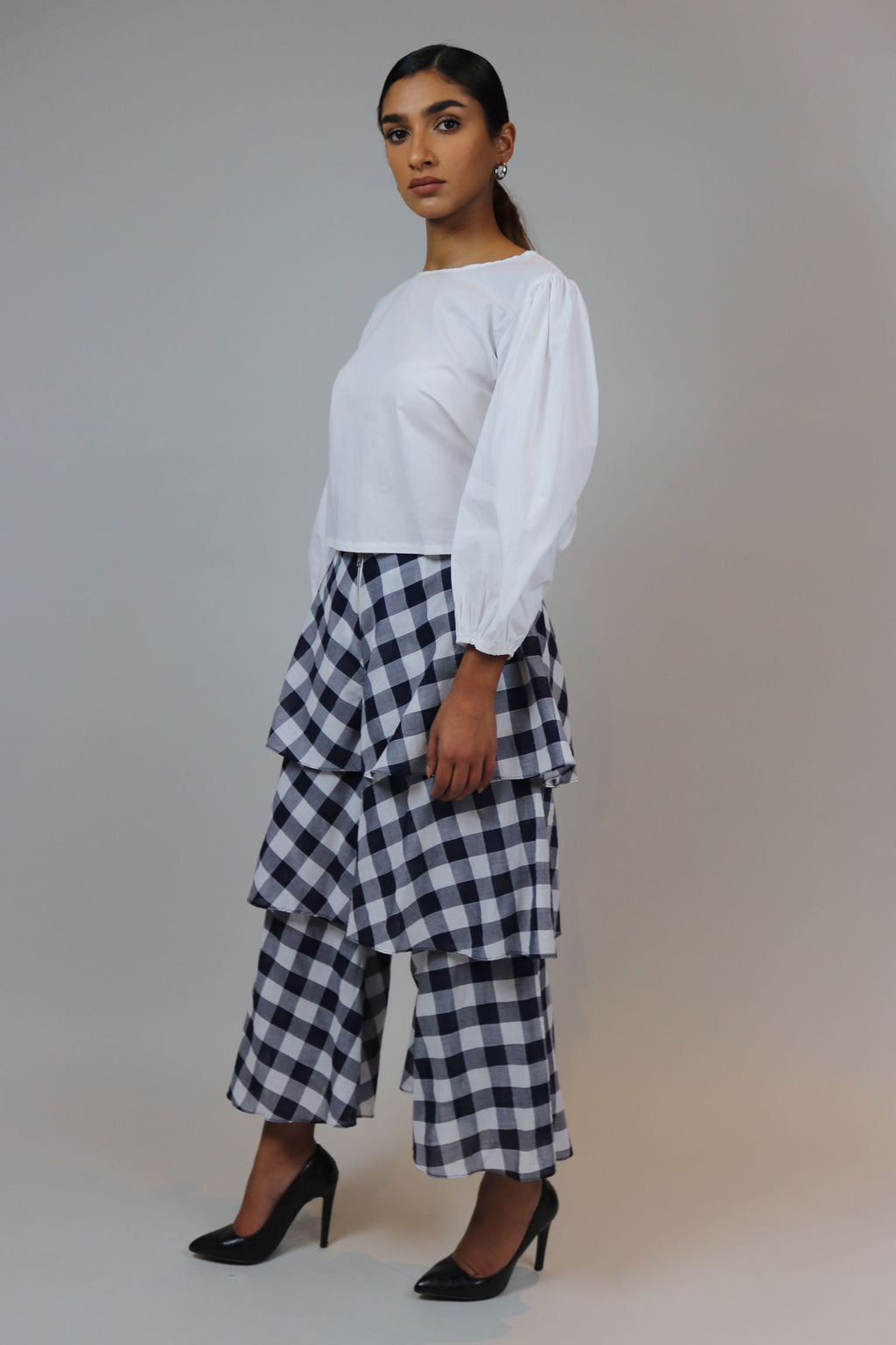WANTS Gingham Ruffle Pants