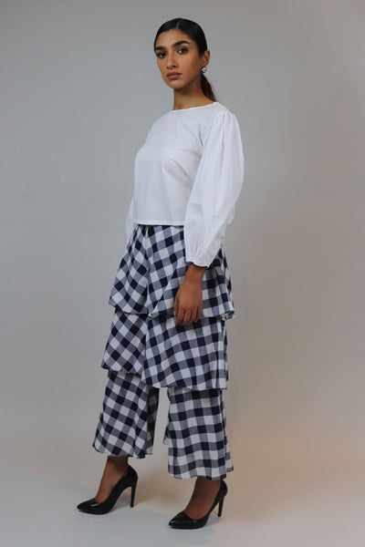 Gingham Ruffle Pants