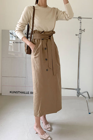 Knit Trench Midi Dress