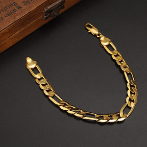 Classic Gold Plated Link Chain Bracelet