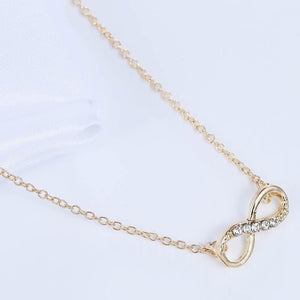 Silver Plated Classic Infinity Necklace