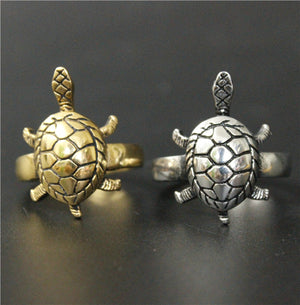 Size 7~13 Fashion Polishing Golden Silver Turtle Ring 316L Stainless Steel Jewelry Newest Biker Ring
