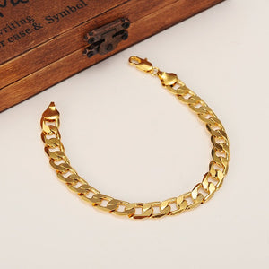 Classic Gold Plated Thick Link Chain Bracelet