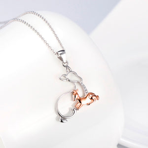 MotherBaby Deer Pendants