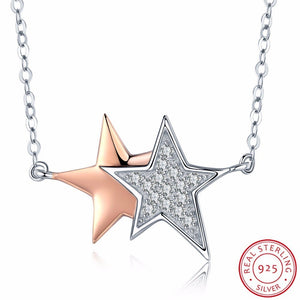 925 Sterling Silver Luminous Rising Star Necklace