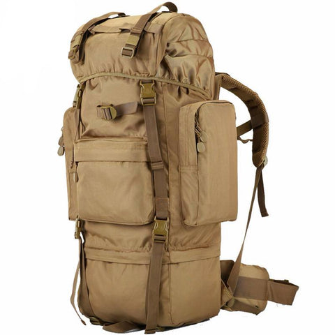 70L Metal Military Backpack