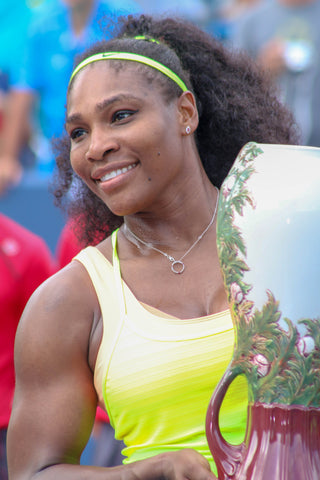 Serena Williams After Win in 2015 HeadShot