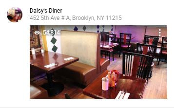 Daisy's Diner google local guide