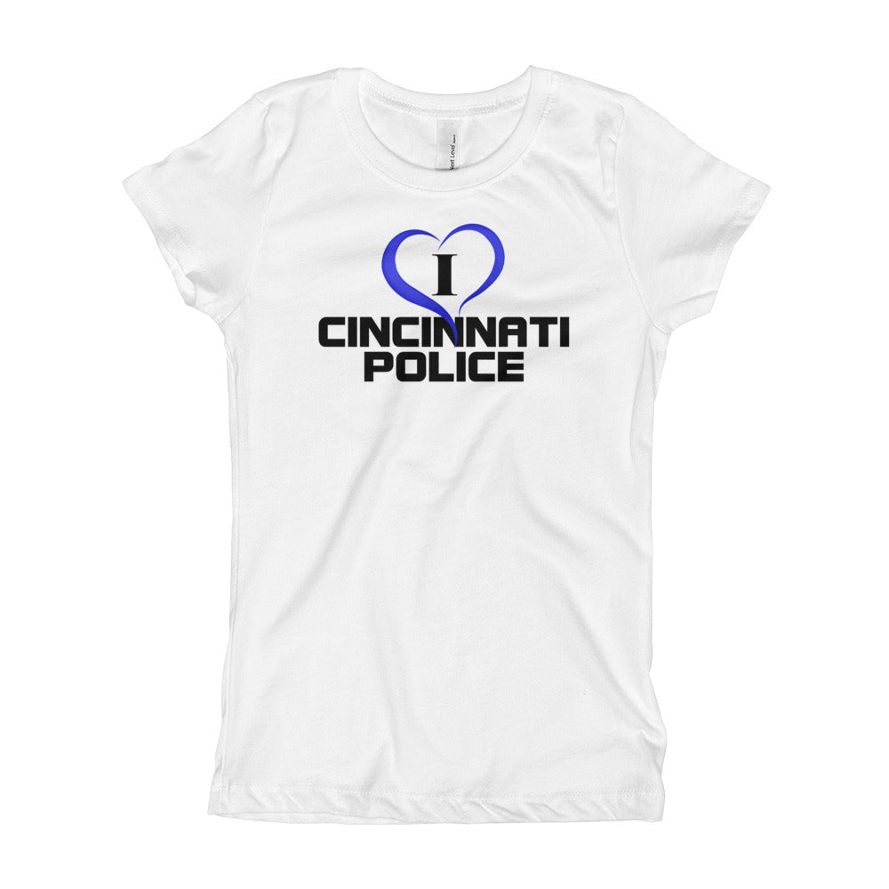 I Love Cincinnati Police Girl's T-Shirt