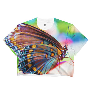 Colorful Butterfly - Ladies Crop Top