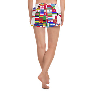 Staying @ Home Worldwide - Women's Athletic Short Shorts