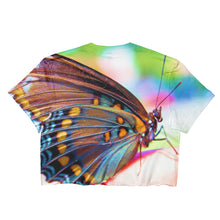 Colorful Butterfly Double-sided - Ladies Crop Top - Original Photography