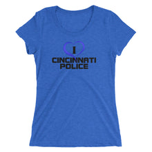 I Love Cincinnati Police Ladies' short sleeve t-shirt