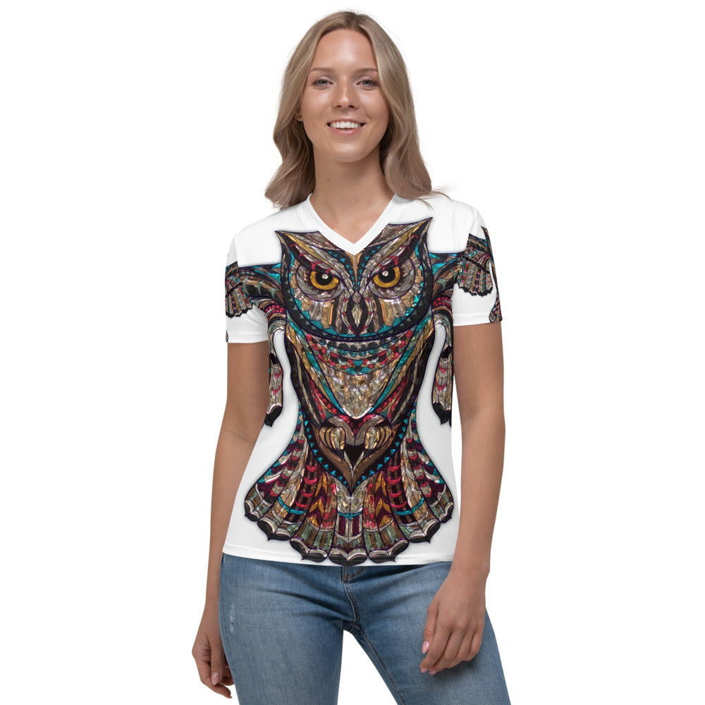Deneen's Owl Two Women's V-neck