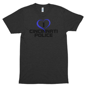 I Love Cincinnati Police Ladies' Short sleeve soft t-shirt
