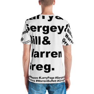 Jeff & Larry & Sergey & Bill & Warren & Greg Short sleeve men's t-shirt