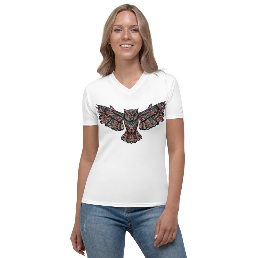 Deneen's Owl Women's V-neck