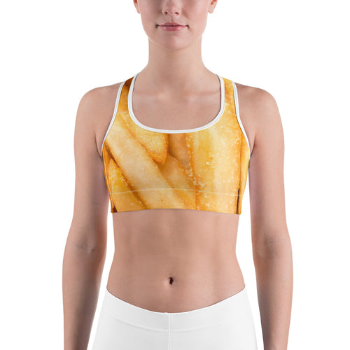 French Fries Sports Bra