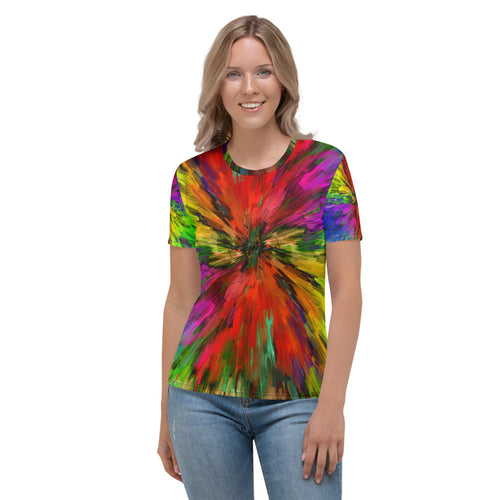 Disco Lights Tye-Dye Style Women's T-shirt