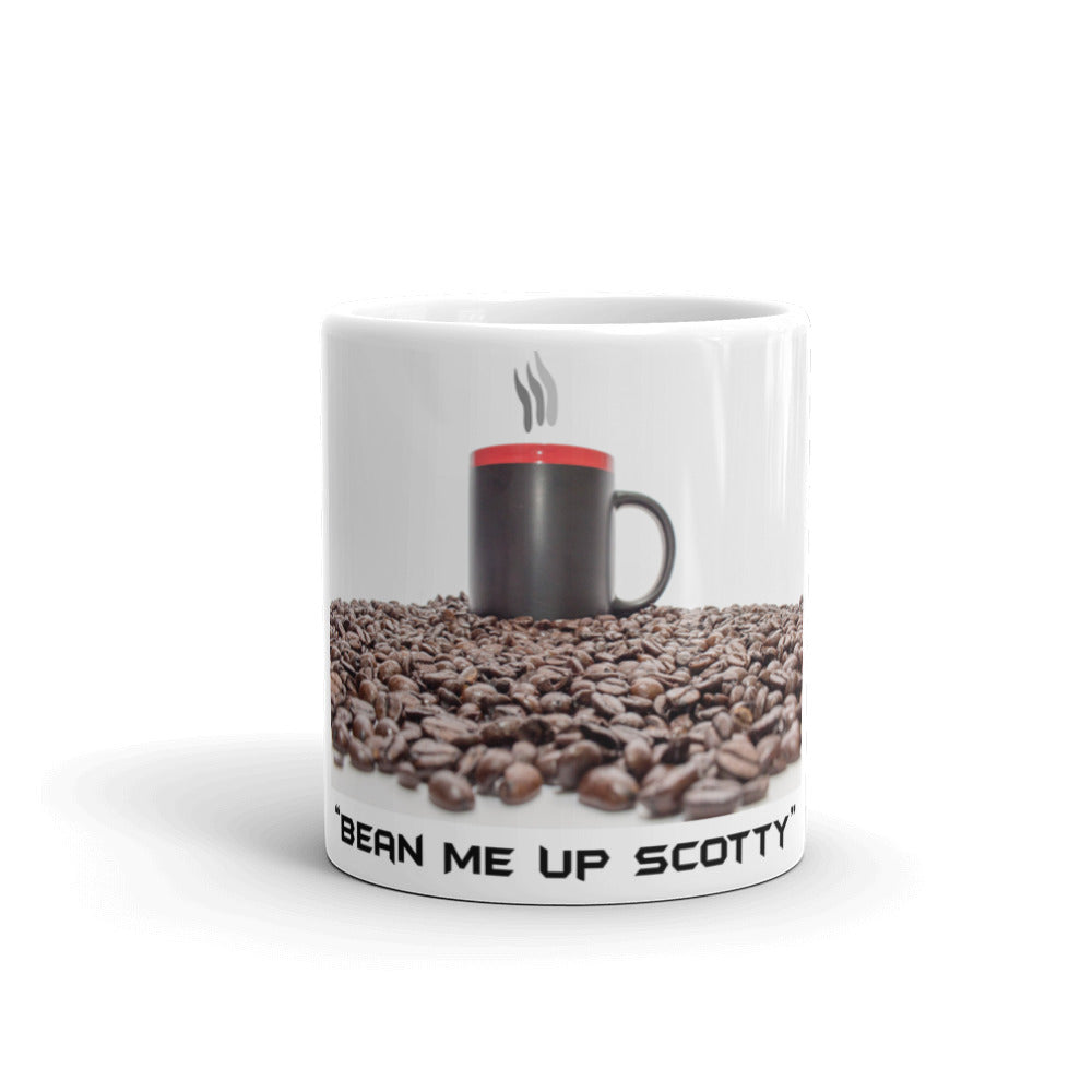 "Holiday Deals - ""Bean Me Up Scotty"" Coffee Mug made in the USA"