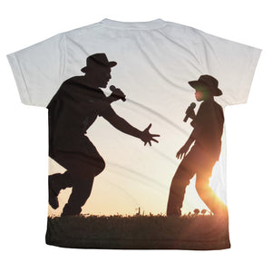 Father and Son - We Rock The Mic! All-over youth sublimation T-shirt