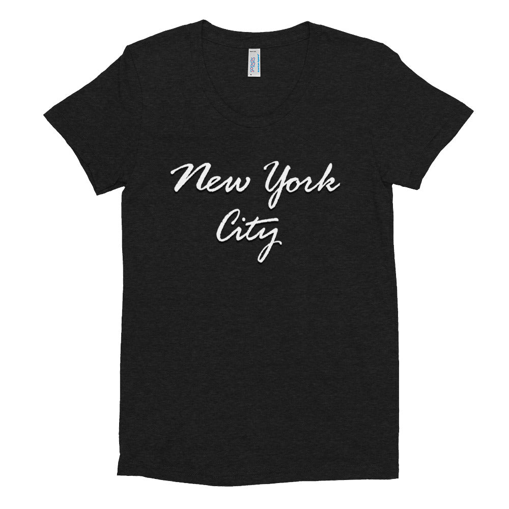 New York City Script Women's Crew Neck T-shirt