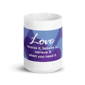Purple Hearts Love Mug 2