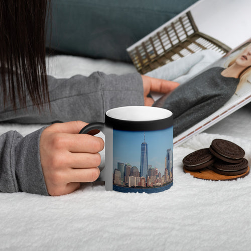Original New York City Photo Matte Black Magic Mug