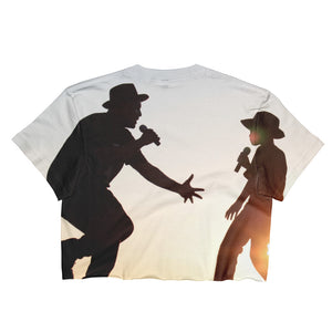 Father and Son - This Is Why We Sing! Ladies Crop Top - Original Photography