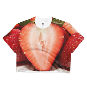 Strawberry Slice - Ladies Crop Top