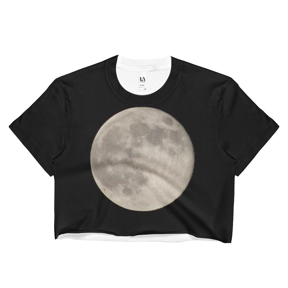 Full Moon Ladies Crop Top