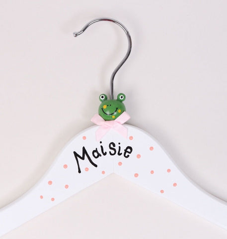 Personalised wooden animal hanger