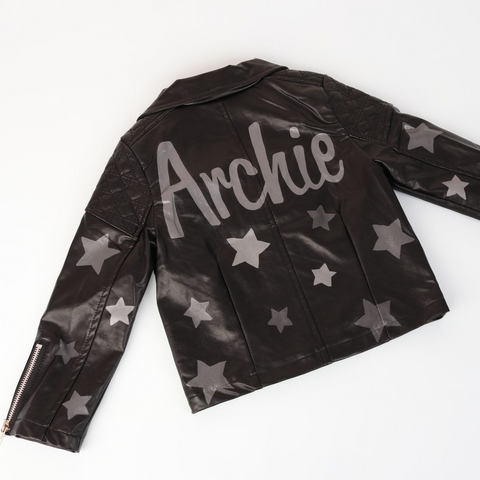 Boys Personalised Painted Biker Jacket