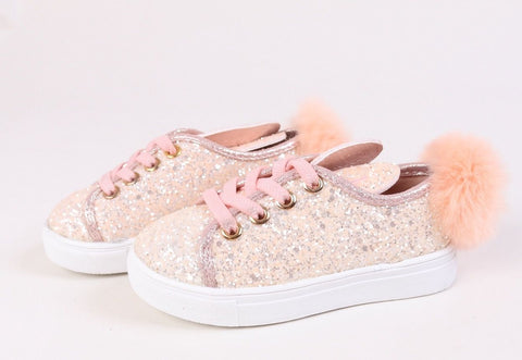Pink Glitter Bunny Trainers