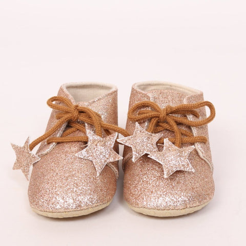 Gold Glitter Soft Shoes