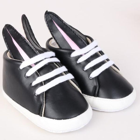 Black Soft Sole Bunny High Tops