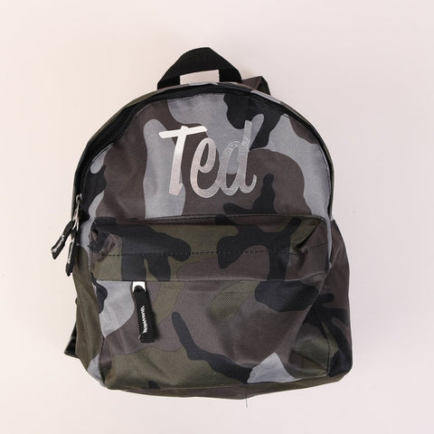 Personalised Camo Backpack
