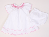 Embroidered Smocked Dress and Knickers