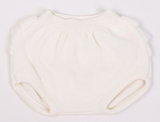 Cream Frilly Knitted Nappy Cover