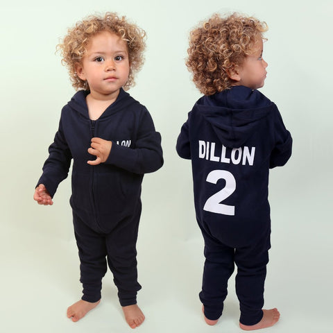 Navy Personalised Onesie