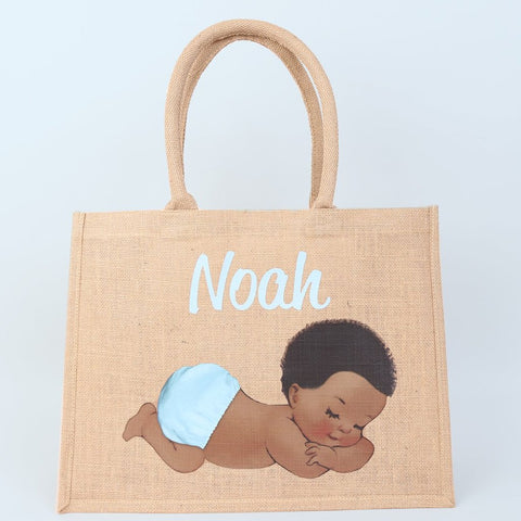 Personalised Sleeping Baby Boy Bag - Available in 3 Sizes